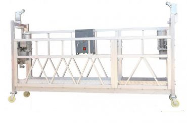 Steel Painted Hot Galvanized Aluminium ZLP630 Suspended Work Platform for Building Painting Facade