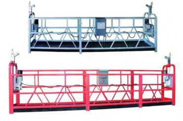 zlp 630 ເຊືອກຖາວອນເວທີການເຮັດວຽກທາງອາກາດ swing stage scaffold ດ້ວຍສຕິກສີດສີດ