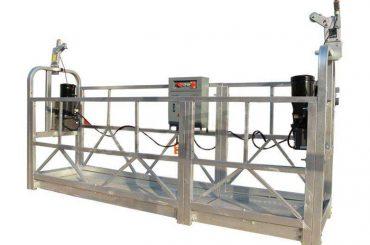zlp ຊຸດຮ້ອນ galvanized / ອາລູມິນຽມ suspension platform ເວທີສໍາລັບການກໍ່ສ້າງສູງ, painted ກໍາແພງຫີນການກໍ່ສ້າງ, ການທໍາຄວາມສະອາດແກ້ວ
