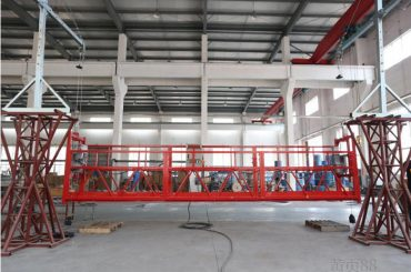 2 * 22kw suspended platforms zlp1000 ຄວາມໄວການຍົກ 8-10 m / min